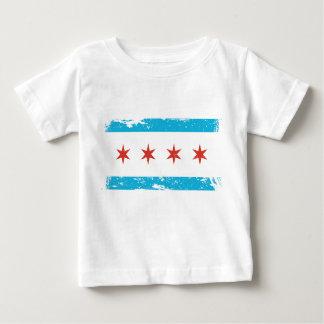 シカゴのグランジな旗 ベビーTシャツ
