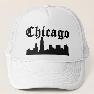 シカゴのシルエットのスカイライン キャップ