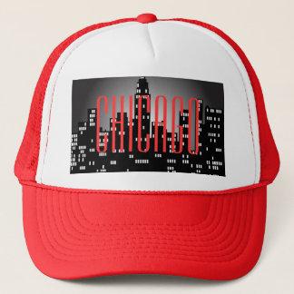 シカゴのスカイラインのトラック運転手の帽子 キャップ