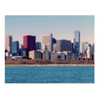 シカゴのスカイラインのパノラマ ポストカード