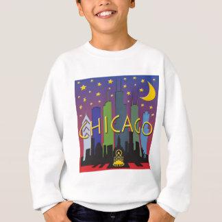 シカゴのスカイラインの夜遊び スウェットシャツ