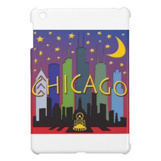 シカゴのスカイラインの夜遊び iPad MINIケース