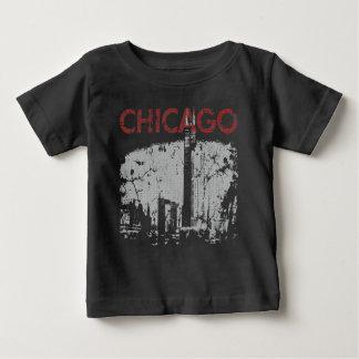 シカゴのスカイラインの芸術 ベビーTシャツ