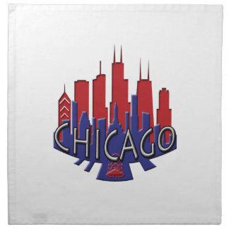 シカゴのスカイラインのnewwaveの愛国者 ナプキンクロス