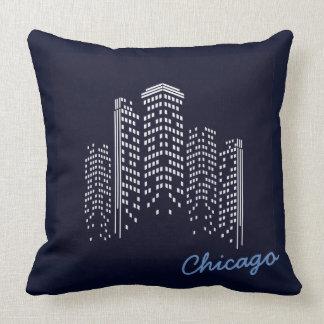 シカゴのスカイラインポリエステル枕 クッション