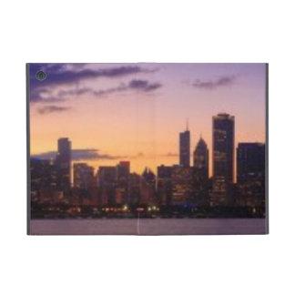 シカゴのスカイライン上の太陽セット iPad MINI ケース