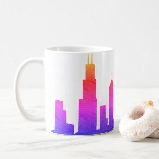 シカゴのスカイライン コーヒーマグカップ