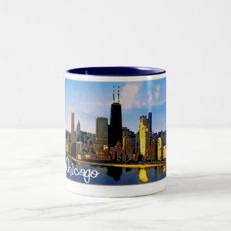 シカゴのスカイライン ツートーンマグカップ