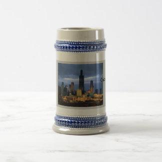 シカゴのスカイライン ビールジョッキ