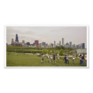 シカゴのスカイライン フォトプリント