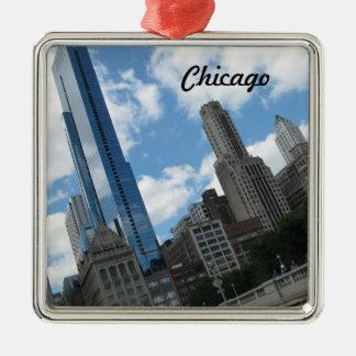 シカゴのスカイライン メタルオーナメント