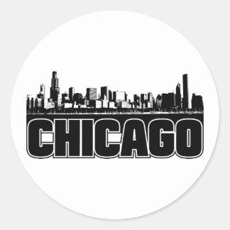 シカゴのスカイライン ラウンドシール