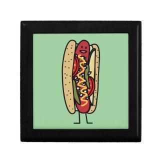 シカゴのスタイルのホットドッグの熱く赤いケシのパンのマスタード ギフトボックス