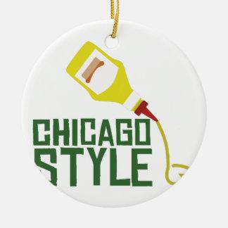 シカゴのスタイル セラミックオーナメント