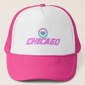 シカゴのハートのトラック運転手の帽子 キャップ