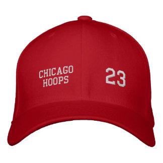 シカゴのバスケ 刺繍入りキャップ