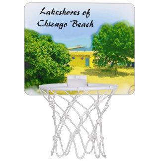 シカゴのビーチのLakeshores ミニバスケットボールゴール