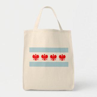 シカゴのポーランドの旗 トートバッグ