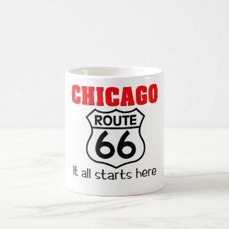 シカゴのルート66のマグ コーヒーマグカップ