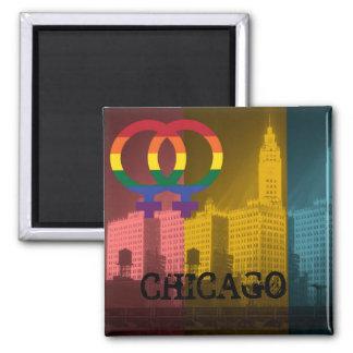 シカゴのレズビアンの興味のカラフルなプライドのゲイ マグネット