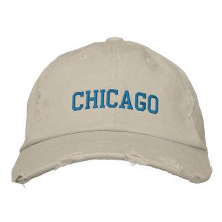 シカゴのロゴによって刺繍される帽子 刺繍入りキャップ