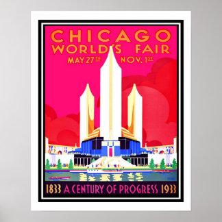 シカゴの万国博覧会のヴィンテージの再生 ポスター