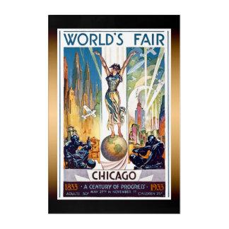 シカゴの万国博覧会1933年-ヴィンテージのレトロのアールデコ アクリルウォールアート