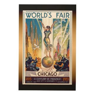 シカゴの万国博覧会1933年-ヴィンテージのレトロのアールデコ ウッドウォールアート