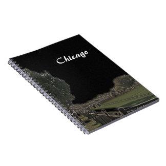 シカゴの公園によって黒くされる空 ノートブック