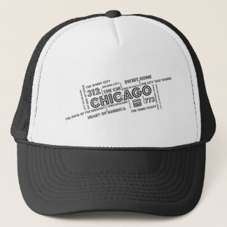 シカゴの単語の雲 キャップ