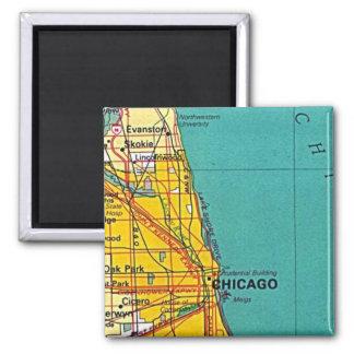 シカゴの地図の磁石 マグネット