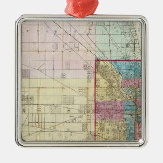 シカゴの地図 メタルオーナメント