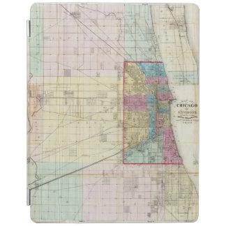 シカゴの地図 iPadスマートカバー