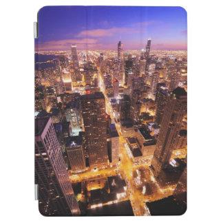 シカゴの夜の都市景観 iPad AIR カバー
