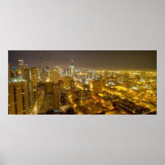 シカゴの夜空 ポスター