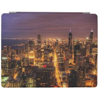 シカゴの夜都市景観 iPadスマートカバー