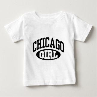 シカゴの女の子 ベビーTシャツ