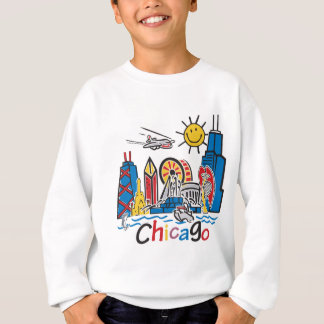 シカゴの子供のかわいいスカイラインのデザイン スウェットシャツ