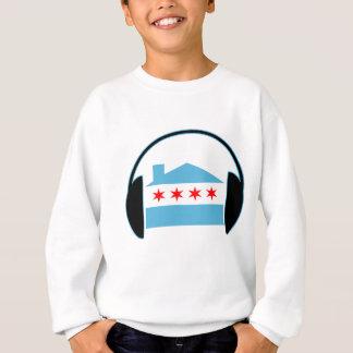 シカゴの家旗のヘッドホーン スウェットシャツ