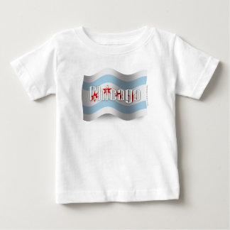 シカゴの振る旗 ベビーTシャツ