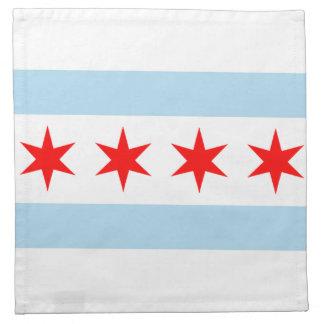 シカゴの旗のアメリカ人のMoJoのナプキン ナプキンクロス