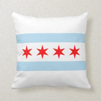 シカゴの旗のアメリカ人のMoJoの枕 クッション