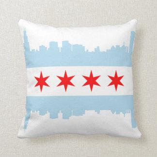 シカゴの旗のスカイラインのアメリカ人のMoJoの枕 クッション