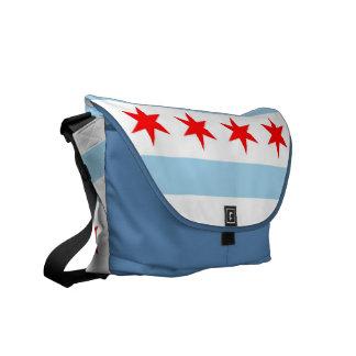 シカゴの旗の人力車のメッセンジャーバッグ メッセンジャーバッグ