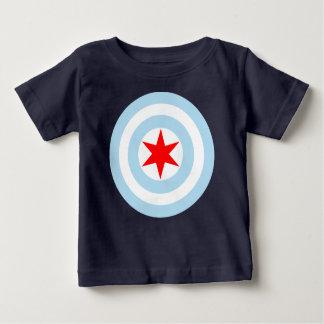 シカゴの旗の盾 ベビーTシャツ