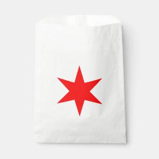 シカゴの旗の6先の尖った星 フェイバーバッグ