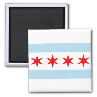 シカゴの旗ボタン マグネット