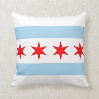 シカゴの旗、イリノイのアメリカ人のMoJoの枕 クッション