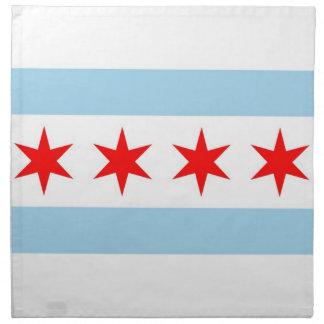 シカゴの旗、イリノイの州のアメリカ人のMoJoのナプキン ナプキンクロス