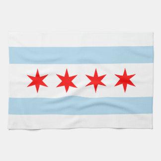 シカゴの旗 キッチンタオル